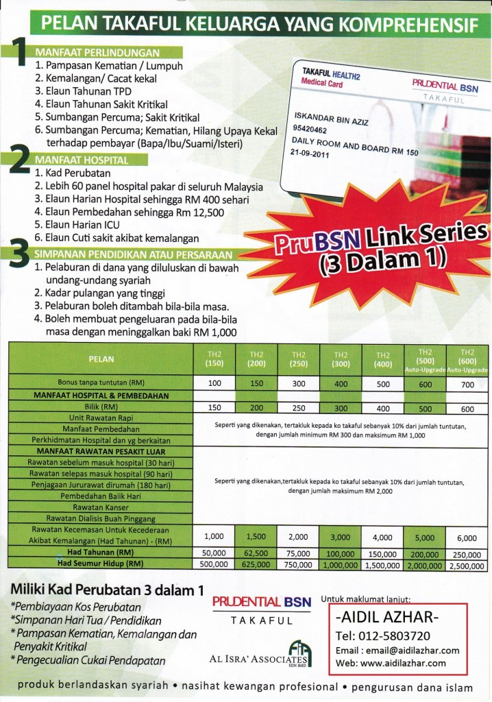 Takaful Health Medical Card 2